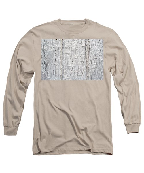 Long Sleeve T-Shirt featuring the photograph Painted Aged Wood by John Williams