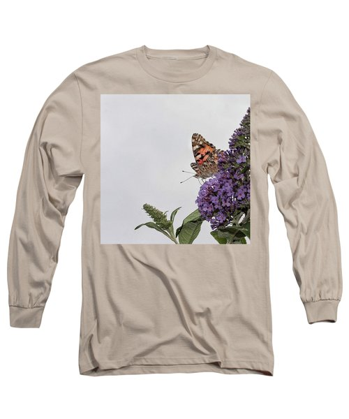 Painted Lady (vanessa Cardui) Long Sleeve T-Shirt by John Edwards