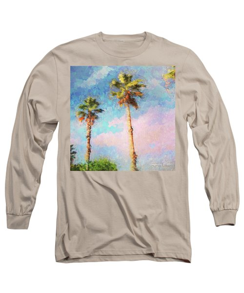 Painted Palms Long Sleeve T-Shirt