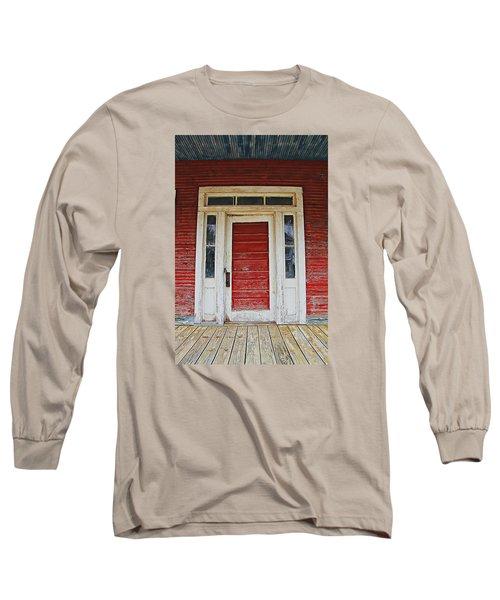 Painted Red Long Sleeve T-Shirt by Lynn Jordan