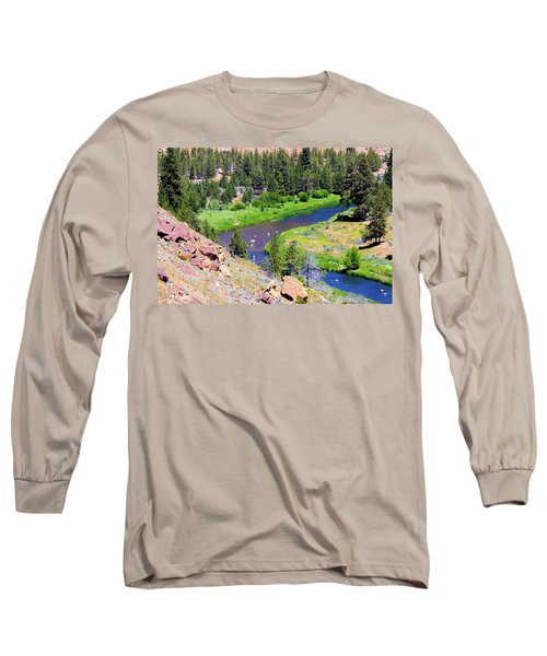 Long Sleeve T-Shirt featuring the photograph Painted River by Jonny D