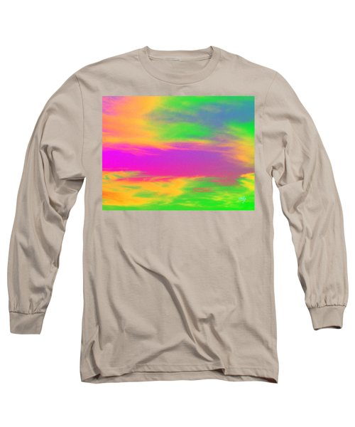 Painted Sky - Abstract Long Sleeve T-Shirt by Linda Hollis