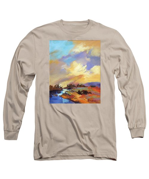 Long Sleeve T-Shirt featuring the painting Painted Sky by Rae Andrews