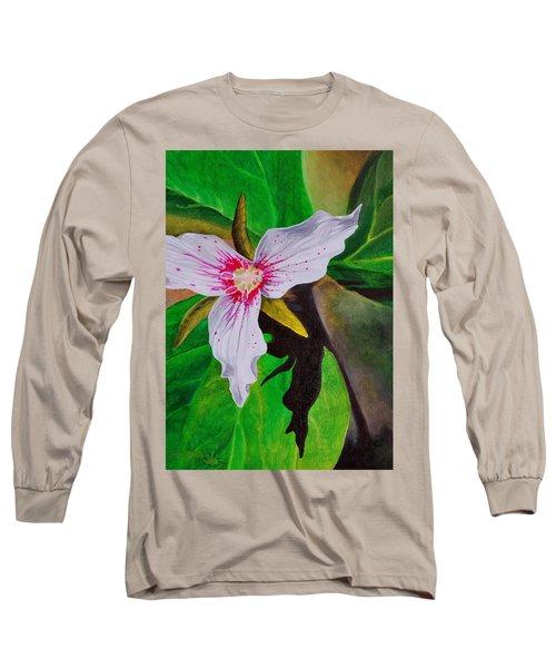 Painted Trillium Long Sleeve T-Shirt