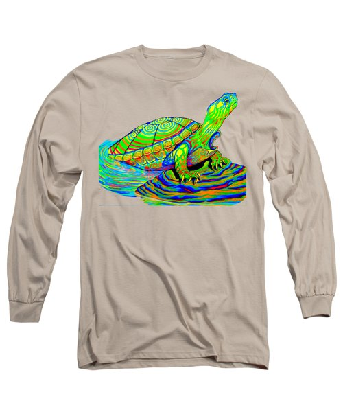 Painted Turtle Long Sleeve T-Shirt by Rebecca Wang