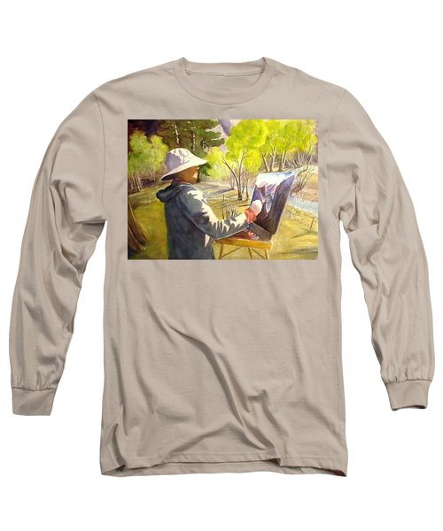 Long Sleeve T-Shirt featuring the painting Painters Paradise by Marilyn Jacobson
