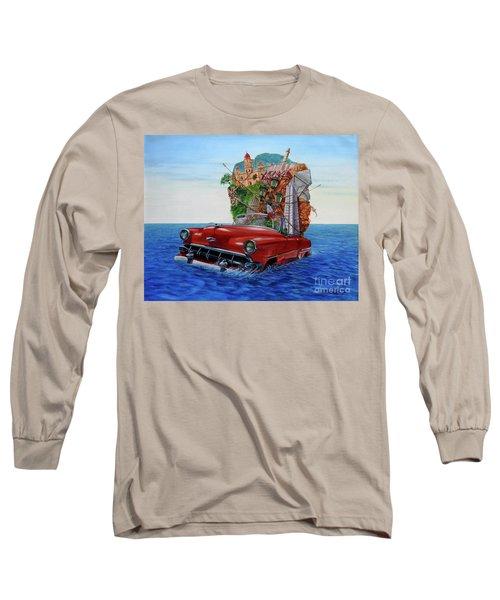 Paisaje Pasado Por Agua Long Sleeve T-Shirt by Jorge L Martinez Camilleri