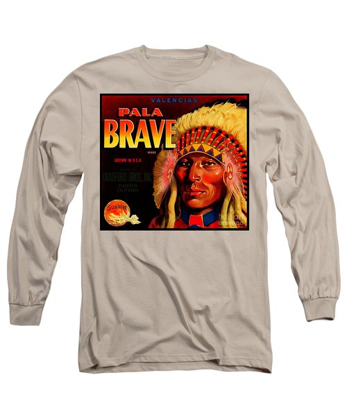 Long Sleeve T-Shirt featuring the painting Pala Brave 1920s Sunkist Oranges by Peter Gumaer Ogden