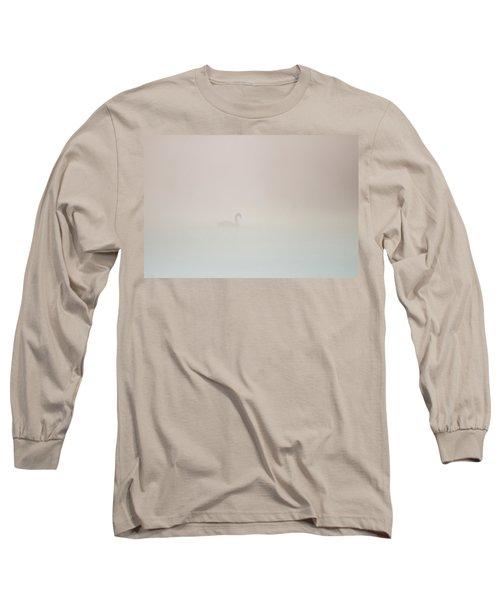 Pale Outline In The Fog Long Sleeve T-Shirt