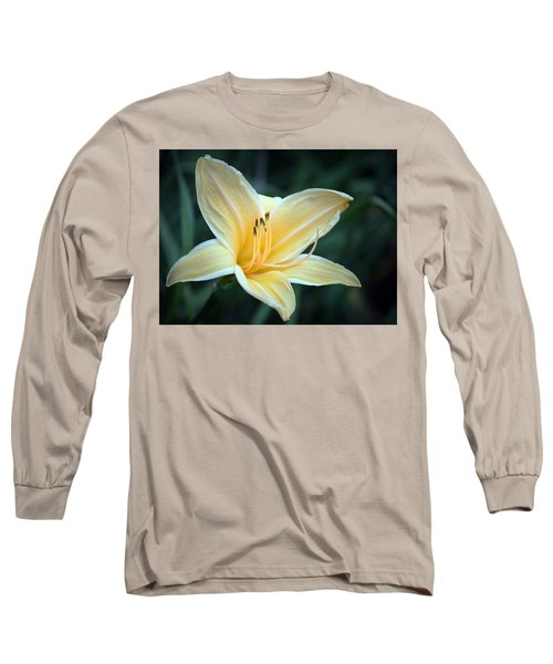 Pale Yellow Day Lily Long Sleeve T-Shirt