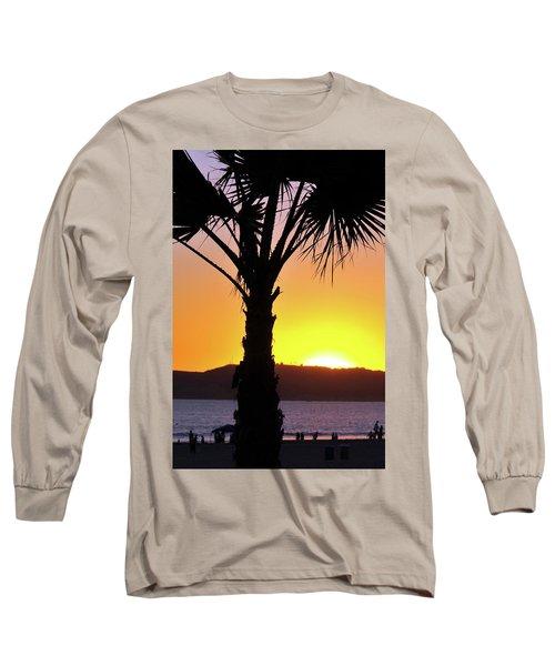Palm At Sunset Long Sleeve T-Shirt