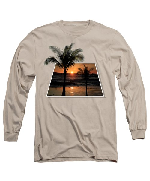 Palm Trees At Sunset Long Sleeve T-Shirt by Shane Bechler
