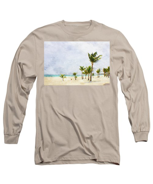 Palmtrees In Punt Cana Long Sleeve T-Shirt