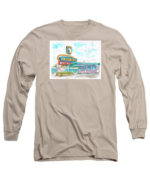 Palomino Motel In Route 66, Tucumcari, New Mexico Long Sleeve T-Shirt by Carlos G Groppa