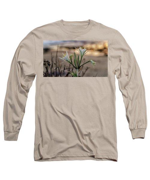 Pancratium Maritimum L. Long Sleeve T-Shirt by Uri Baruch