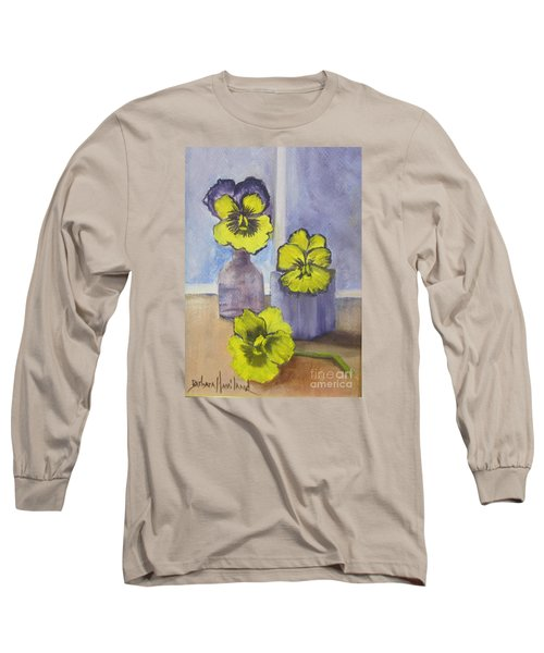 Pansies In Glass Long Sleeve T-Shirt