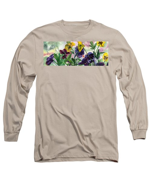Pansy Field Long Sleeve T-Shirt by Lynne Reichhart