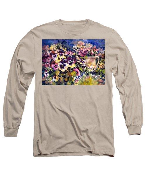 Pansy Garden Long Sleeve T-Shirt