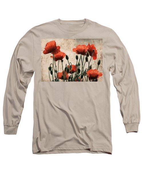 Papaveri Rossi Long Sleeve T-Shirt