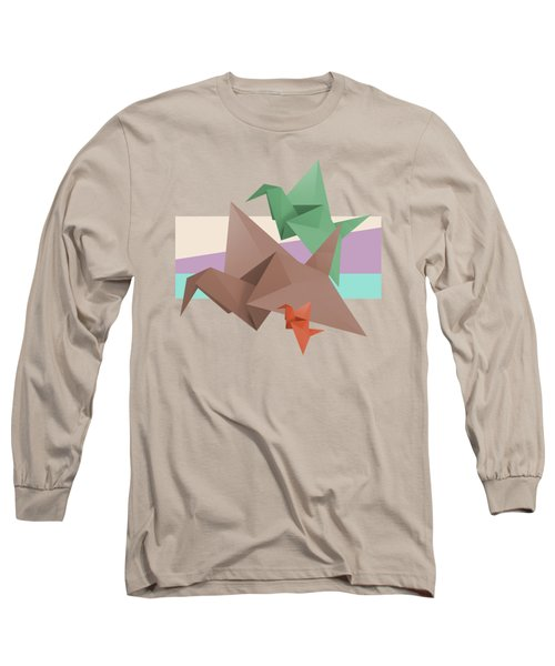 Paper Cranes Long Sleeve T-Shirt by Absentis Designs