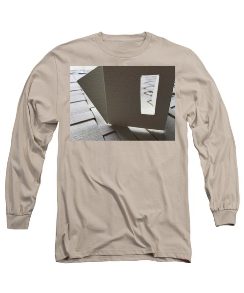 Paper Structure-3 Long Sleeve T-Shirt