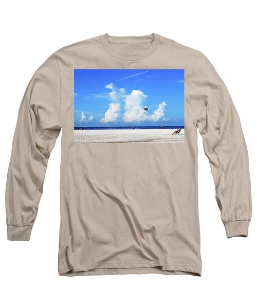 Long Sleeve T-Shirt featuring the photograph Para Sailing On Siesta Key by Gary Wonning