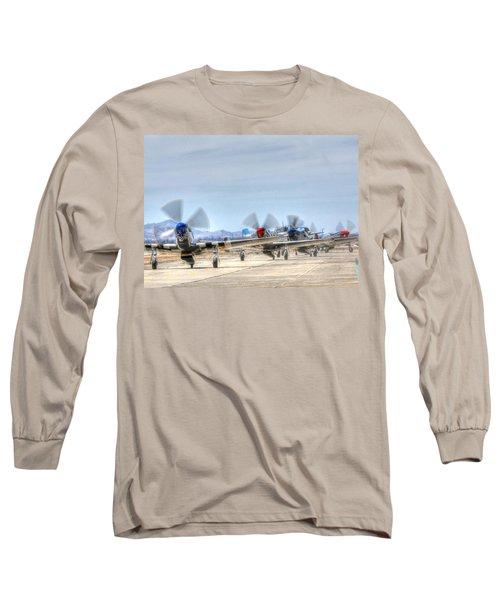 Parade Of Mustangs Long Sleeve T-Shirt