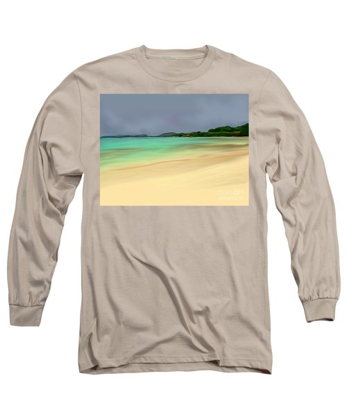 Long Sleeve T-Shirt featuring the digital art Paradise by Anthony Fishburne