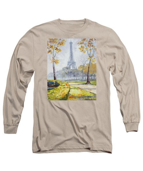 Paris Eiffel Tower From Trocadero Park Long Sleeve T-Shirt by Irek Szelag