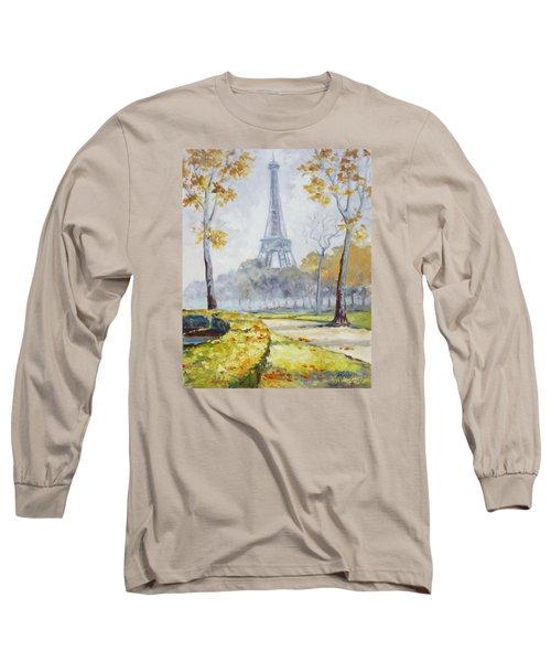 Paris Eiffel Tower From Trocadero Park Long Sleeve T-Shirt