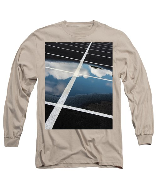 Parking Spaces For Clouds Long Sleeve T-Shirt by Gary Slawsky