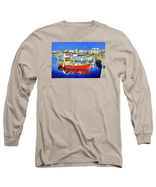 Long Sleeve T-Shirt featuring the photograph Paros Fishing Boats by Dennis Cox WorldViews