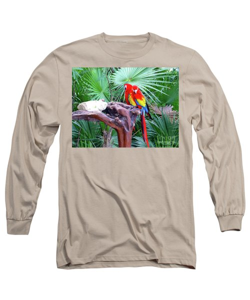 Long Sleeve T-Shirt featuring the digital art Parrots by Francesca Mackenney