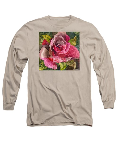 Partitioned Rose IIi Long Sleeve T-Shirt by Anne Gifford