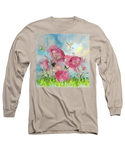 Party In The Posies Long Sleeve T-Shirt by Diana Boyd