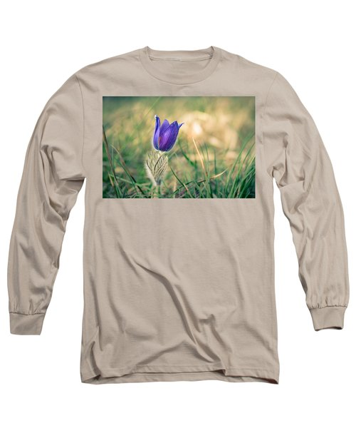 Pasque Flower Long Sleeve T-Shirt by Andreas Levi