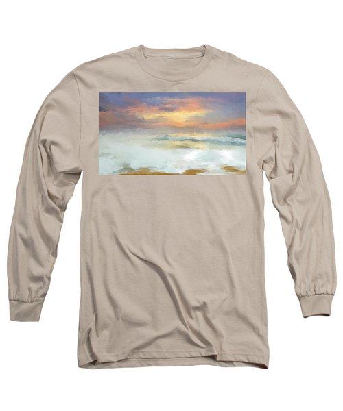 Pastel Beach Mornning Long Sleeve T-Shirt