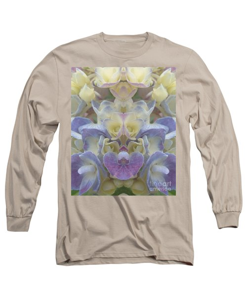 Pastel Blooms Long Sleeve T-Shirt by Christina Verdgeline