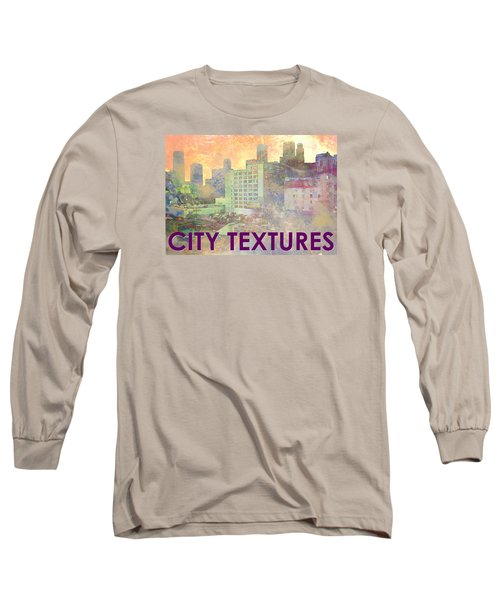 Pastel City Textures Long Sleeve T-Shirt