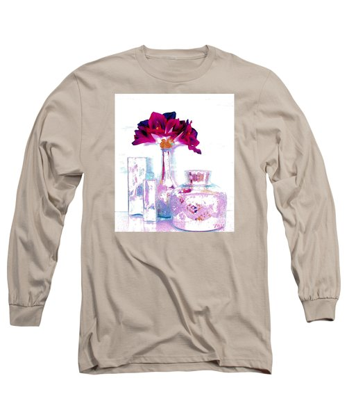 Pastels And Beauty Long Sleeve T-Shirt by Marsha Heiken