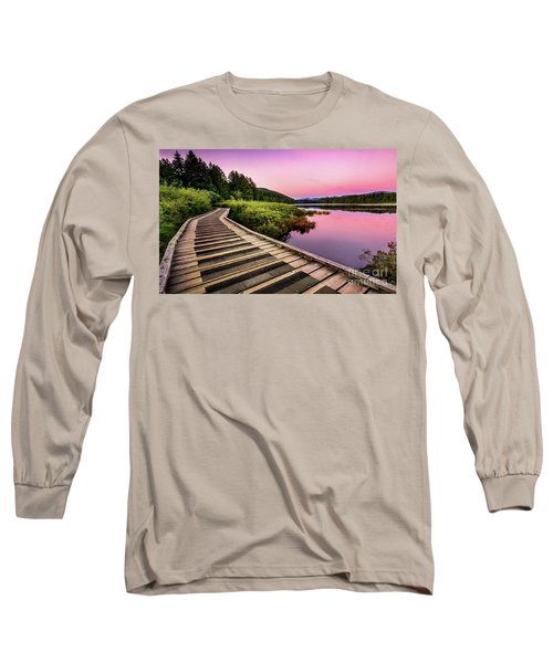 Path By The Lake Long Sleeve T-Shirt by Rod Jellison