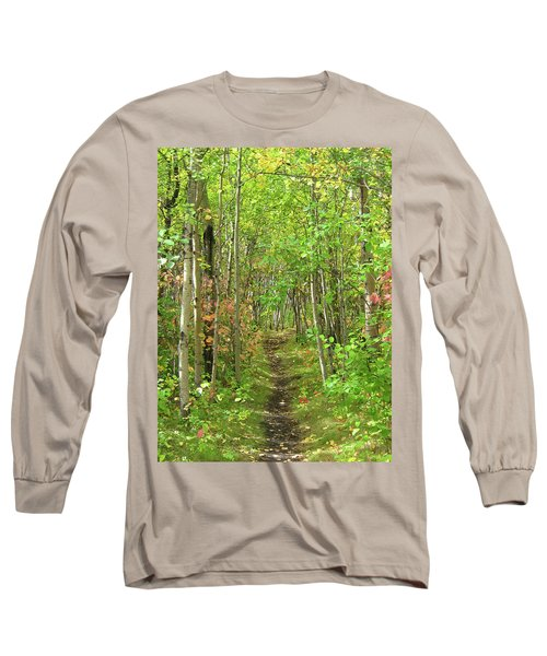 Path In The Woods Long Sleeve T-Shirt