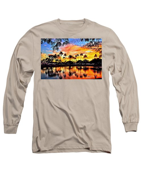 Long Sleeve T-Shirt featuring the digital art Path To The Sea by DJ Florek