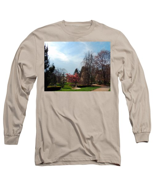 Pathway To Spring Long Sleeve T-Shirt by Teresa Schomig