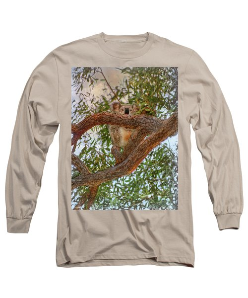 Long Sleeve T-Shirt featuring the photograph Patience Brings Koalas by Hanny Heim