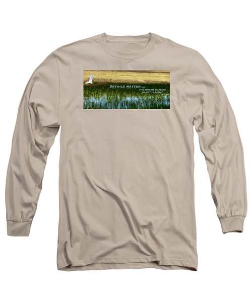 Patience  Long Sleeve T-Shirt by David Norman