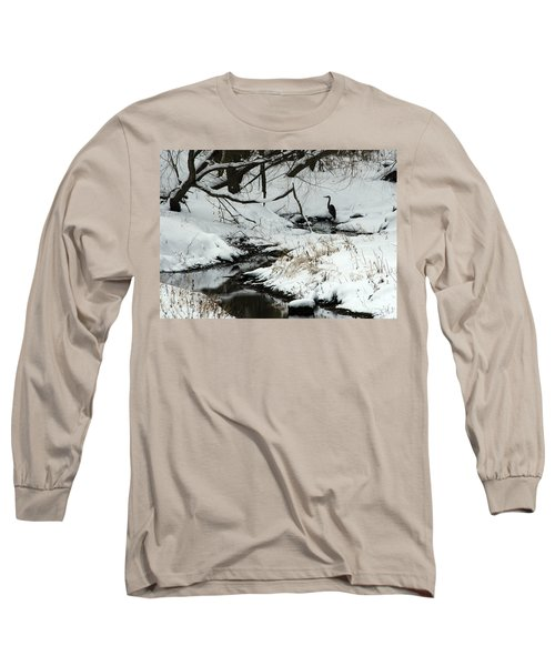 Long Sleeve T-Shirt featuring the photograph Patiently Waiting 2 by Paula Guttilla