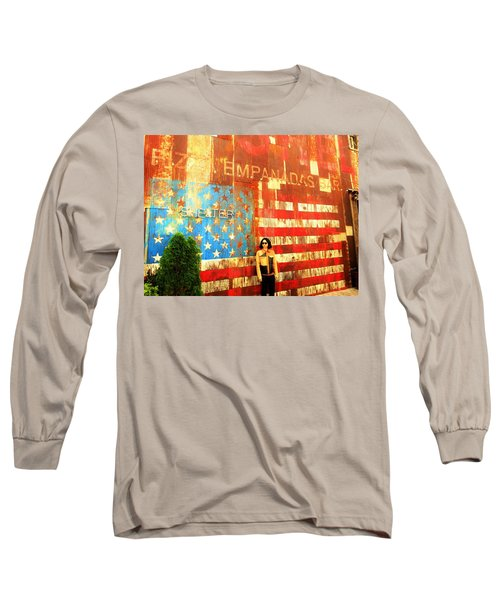 Patriotic Empanadas Wall In New York  Long Sleeve T-Shirt
