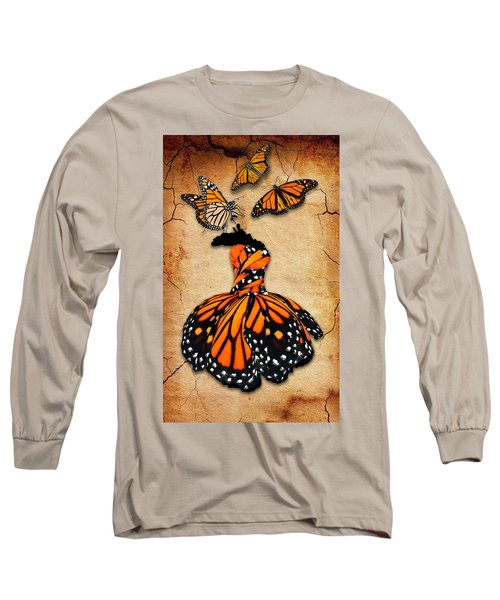 Long Sleeve T-Shirt featuring the mixed media Peace Of Mind by Marvin Blaine