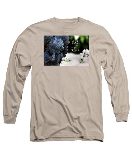 Long Sleeve T-Shirt featuring the photograph Peace On Earth Angel by Shelley Neff
